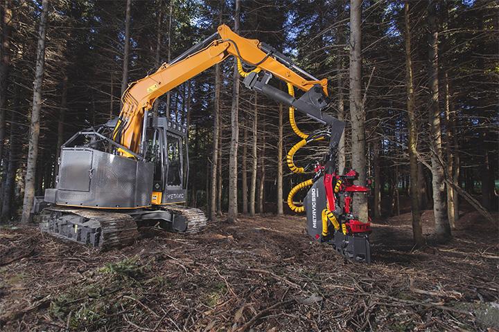 logging equipment - équipement forestier - harvester head - tête multifonctionnel - tête d'abattage - abatteuse - ébrancheuse