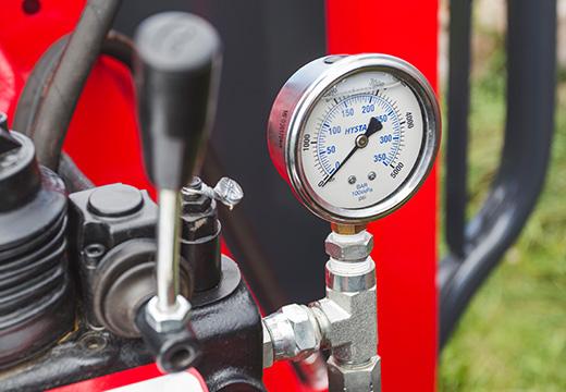 pressure gauge - cadran à pression chargeuse à bois