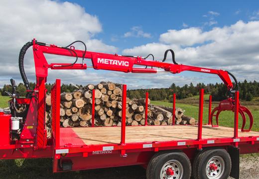 boom logging trailer - mat remorque pour bois