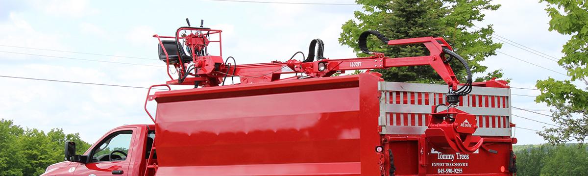 chargeuse forestière sur camion - truck log loader
