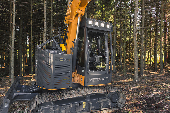 protection excavatrice forestière - renforcement - protection and reinforcement forestery excavator - logging equipment - équipement forestier